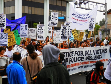 Anaheim March and Rally Marks Two Year Anniversary of Police Killings