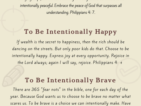 6 Intentional Choices You can Make in Life.