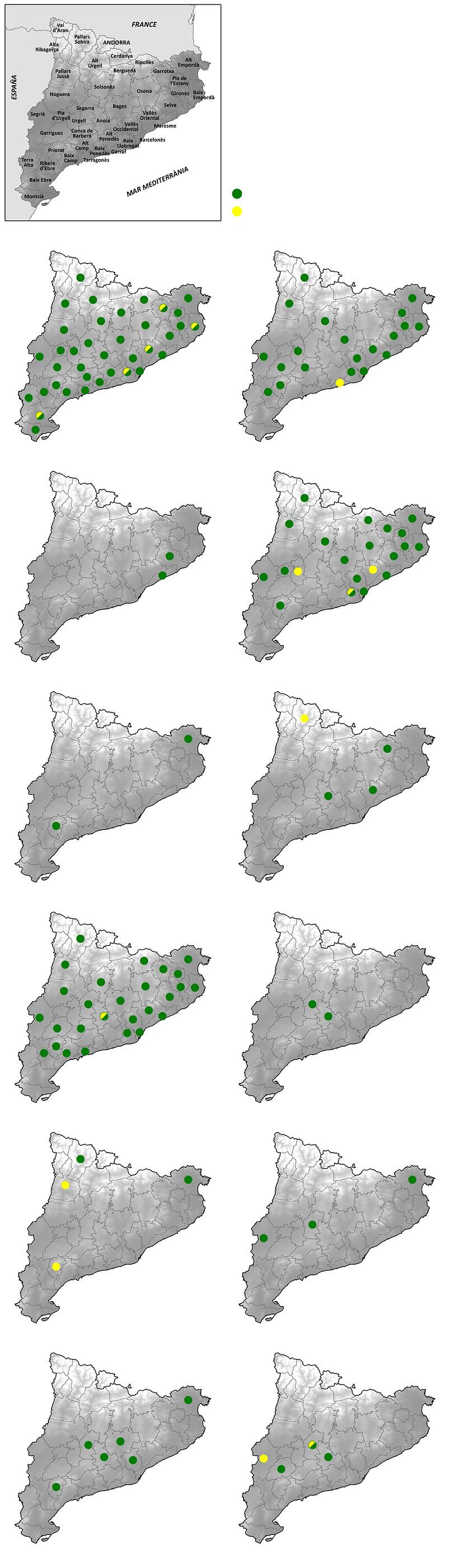 Cicada distribution Catalonia