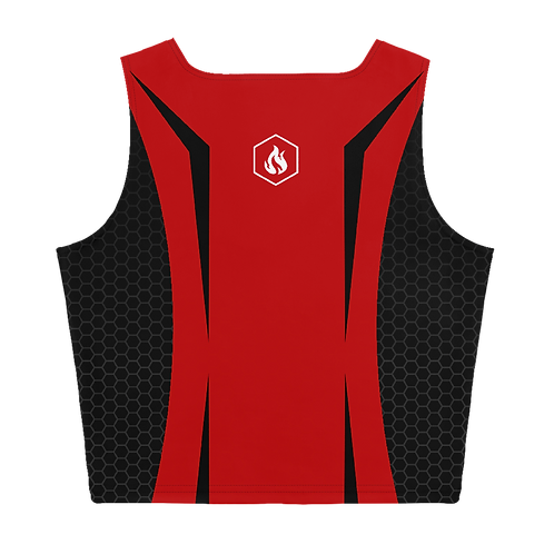 Firestorm Galaxy Genesis Crop Top - Unit 02 Red