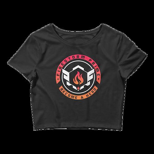 Firestorm Prime Crest Women's Crop Tee
