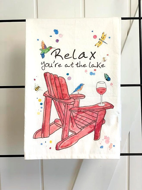 Relax at the Lake Dish Towel by Avery's Home
