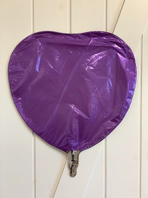 Heart Balloon - Purple