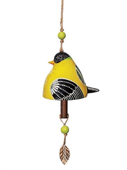 Ceramic Bell Goldfinch