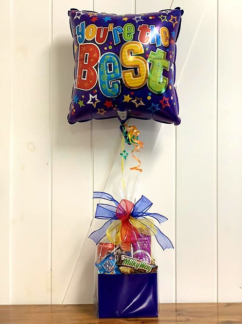 """""""You're the Best"""" Snack Box with Balloon"""