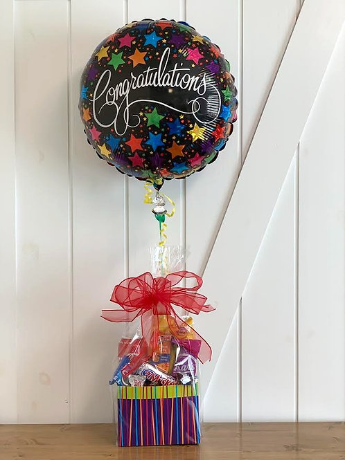 """Congratulations"" Snack Box with Balloon"