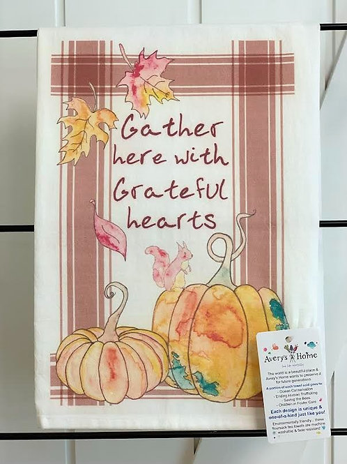 Gather Here Dish Towel by Avery's Home