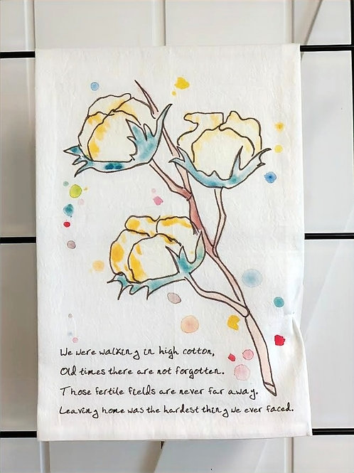 Walking In High Cotton Dish Towel by Avery's Home