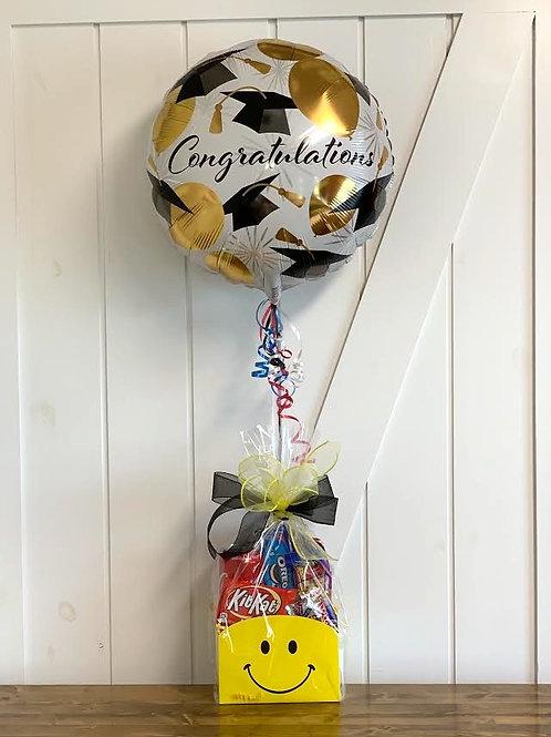 Happy Graduation Snack Box with Balloon