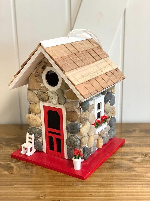 Fieldstone Cabin Birdhouse