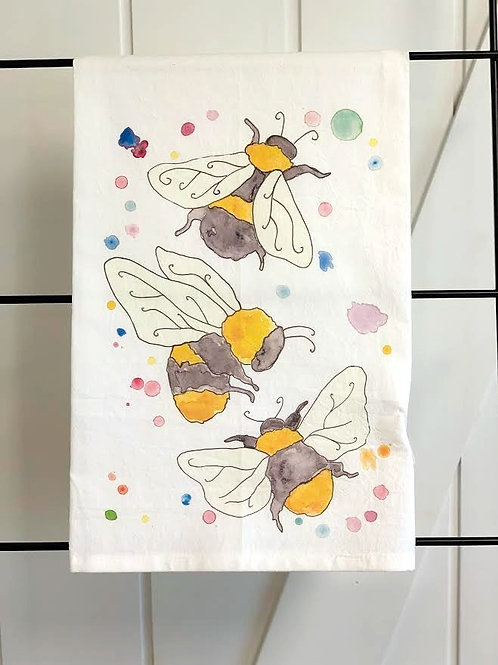 Garden Bees Dish Towel by Avery's Home