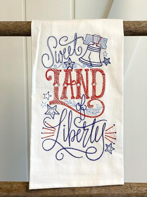 Sweet Land of Liberty Tea Towel