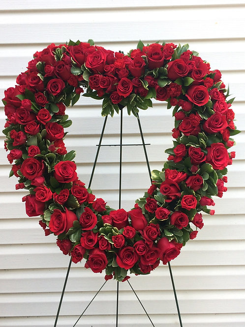 Love and Sympathy Heart Spray