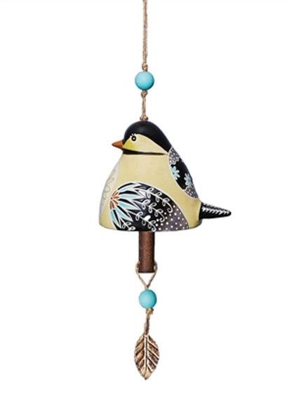 Ceramic Bell Chickadee