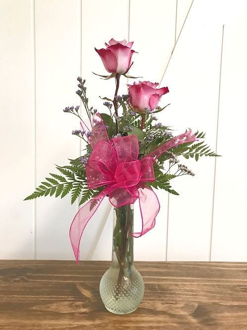 Double Rose Vase