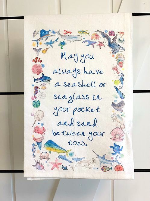 Ocean Blessing Dish Towel by Avery's Home