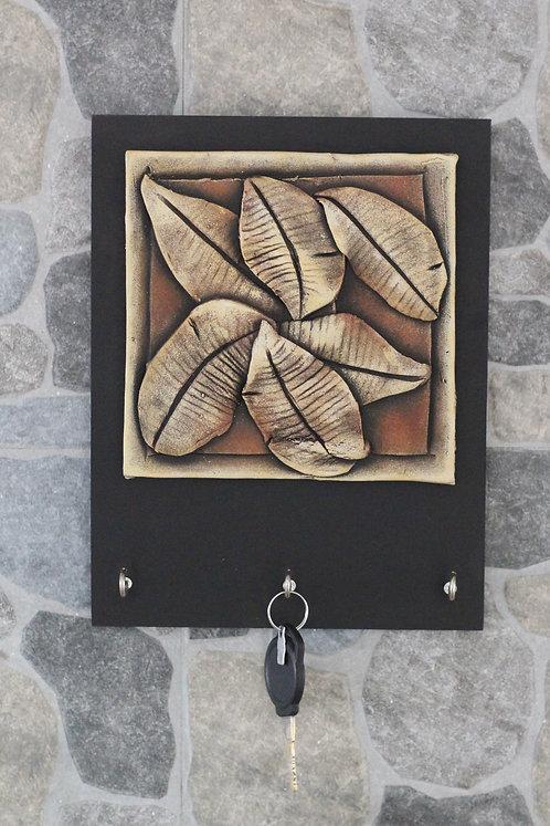 Terracotta 3D Leaves Bunch Key Hanger