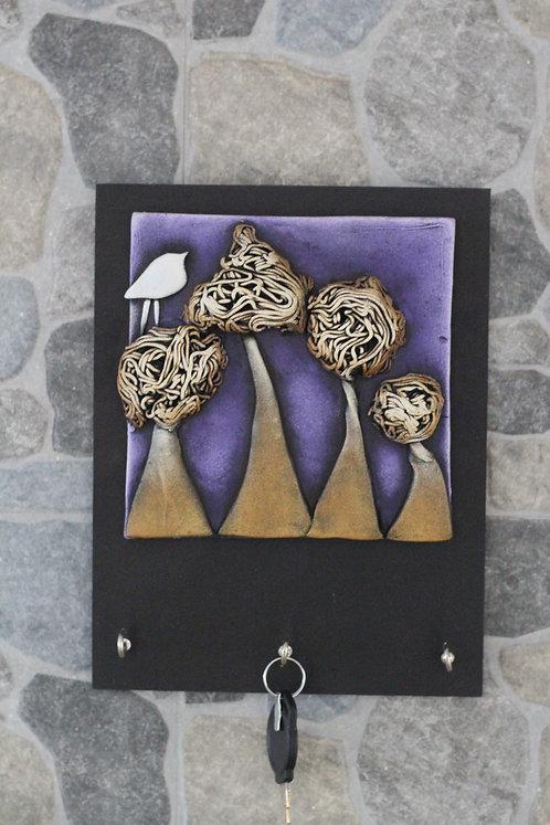 Terracotta 3D White Bird Key Hanger