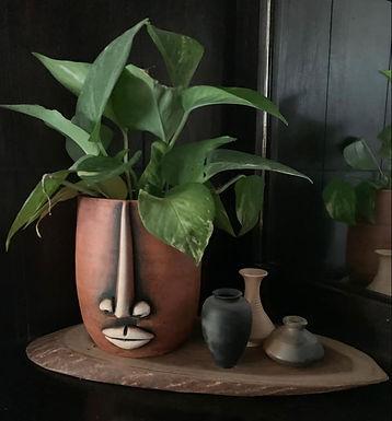 Terracotta Face Planter