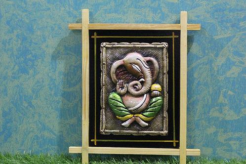 Terracotta 3D Ladoo Ganesha