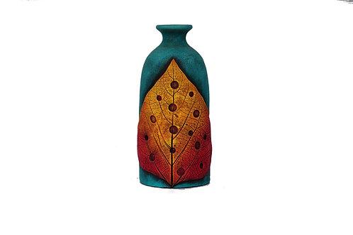 Terracotta Pale Leaf Vase