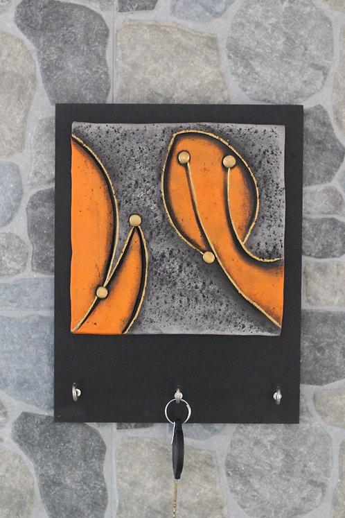 Terracotta 3D Orange Tree Key Hanger