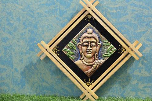 Terracotta 3D Meditating Buddha