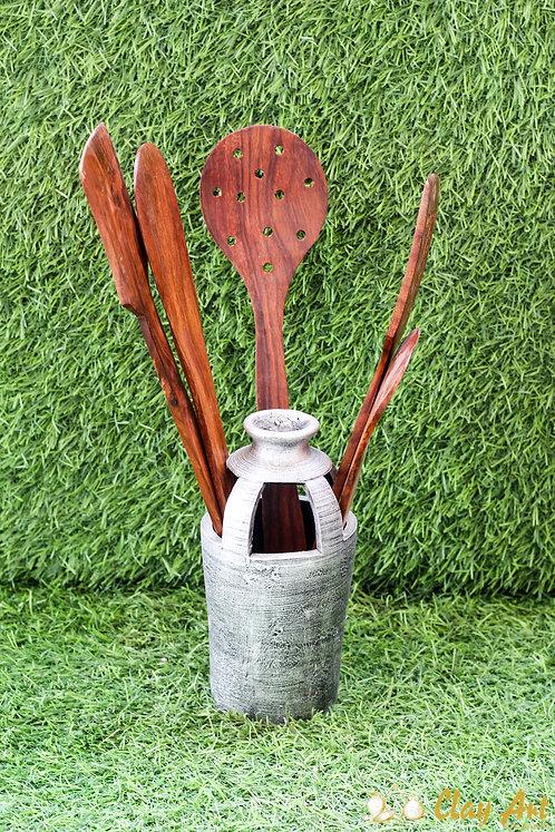 Terracotta Spoon Holder
