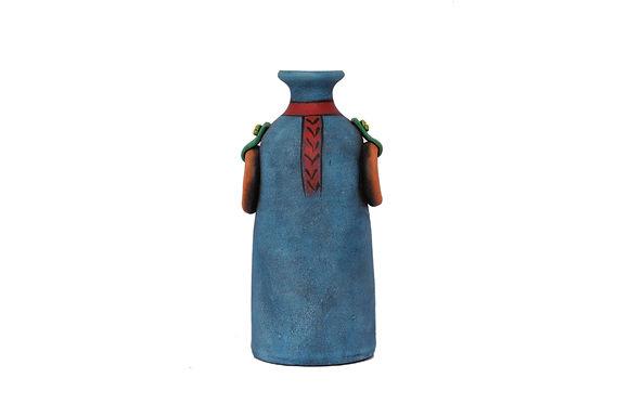 Terracotta Red Muffler Vase