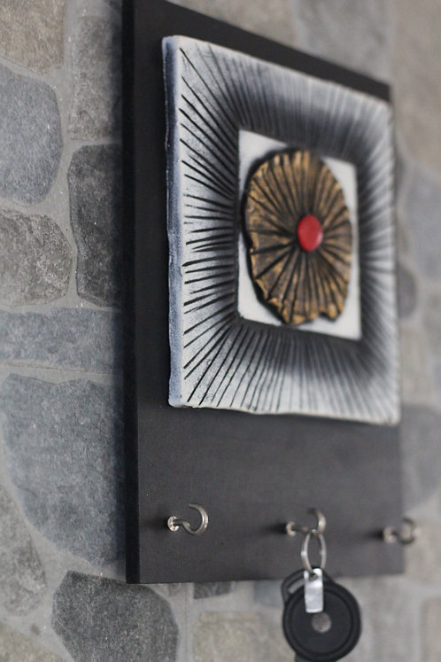 Terracotta 3D Red Dot Key Hanger