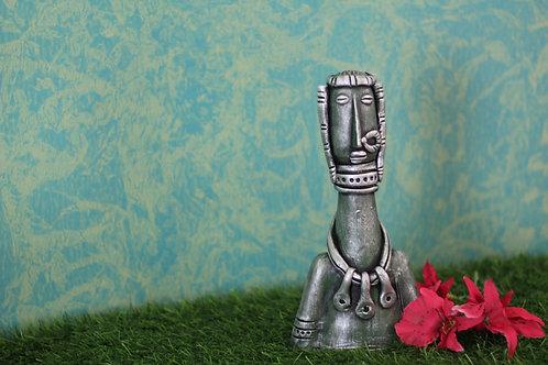Ash Grey Base Terracotta Decorative Doll