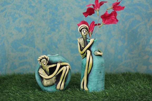 Terracotta Babla Vase Set Of 2