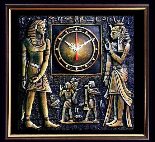 Terracotta 3D Egyptian Priest Wall Clock