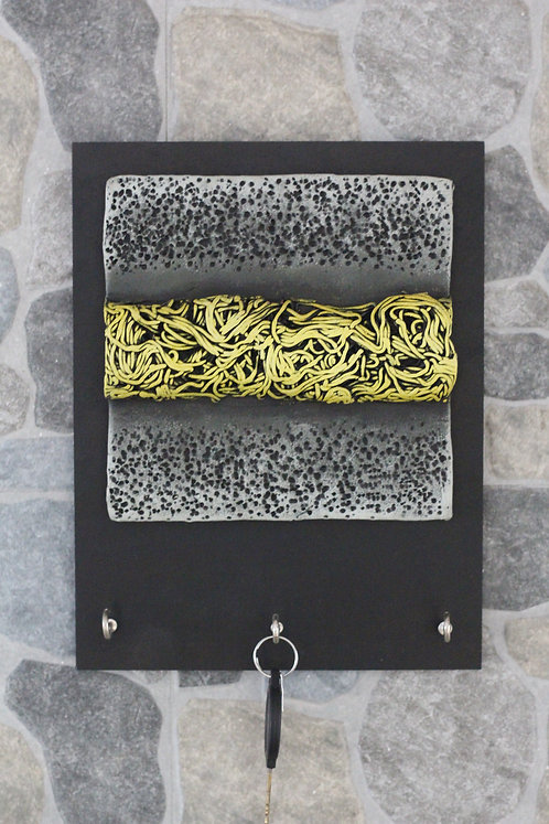 Terracotta 3D Yellow Stripe Key Hanger