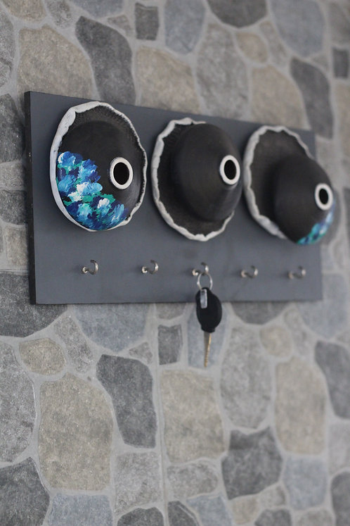 Terracotta 3D Ocean Dots Key Hangers