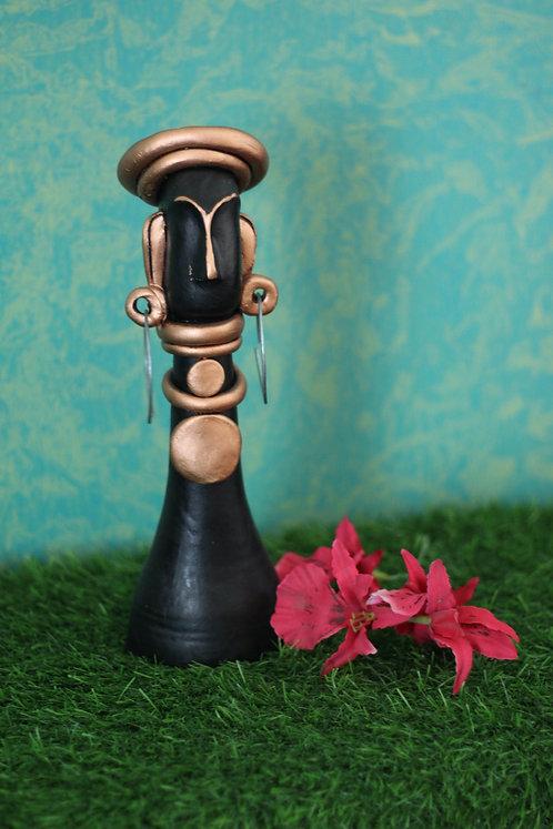 Copper Head Terracotta Tribal Doll