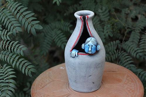 Terracotta Seeking Popeye Vase