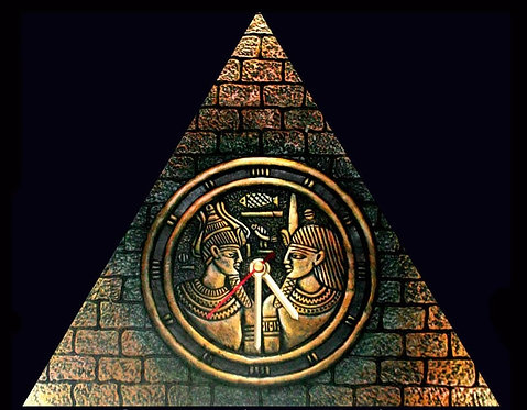 Terracotta 3D Pharaoh Wall Clock