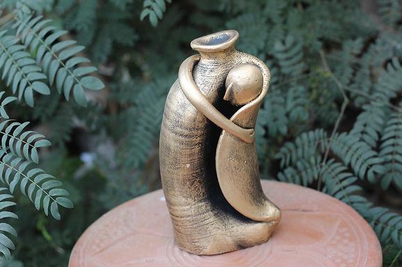 Terracotta Hugging Figure Vase