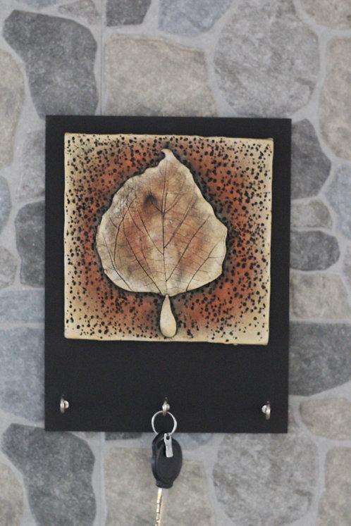 Terracotta 3D Autumn Leaf Key Hanger