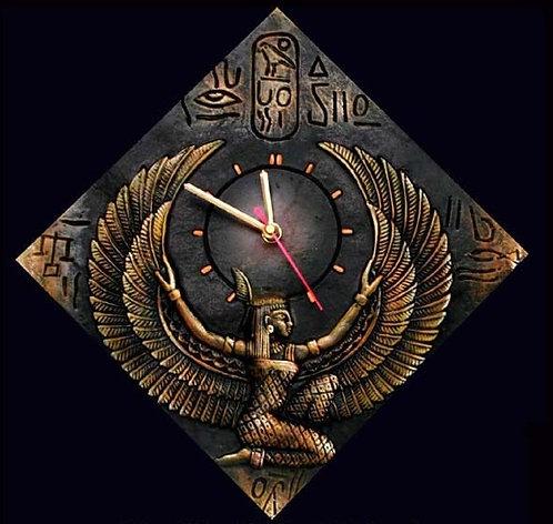 Terracotta 3D Flying Angel Wall Clock