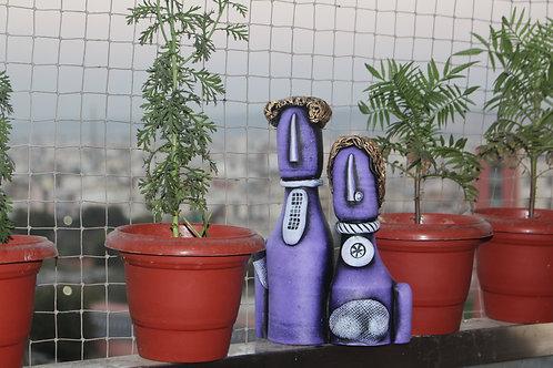 Violet Terracotta Couple Doll