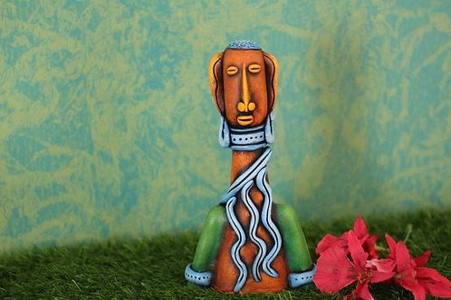 Orange Base Terracotta Decorative Doll
