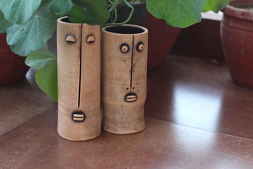 Earthen Clay Couple Planter Set Of 2
