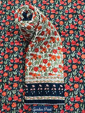 Garden Print Hand-Block Print Cotton Reversible Single Bed Comforter