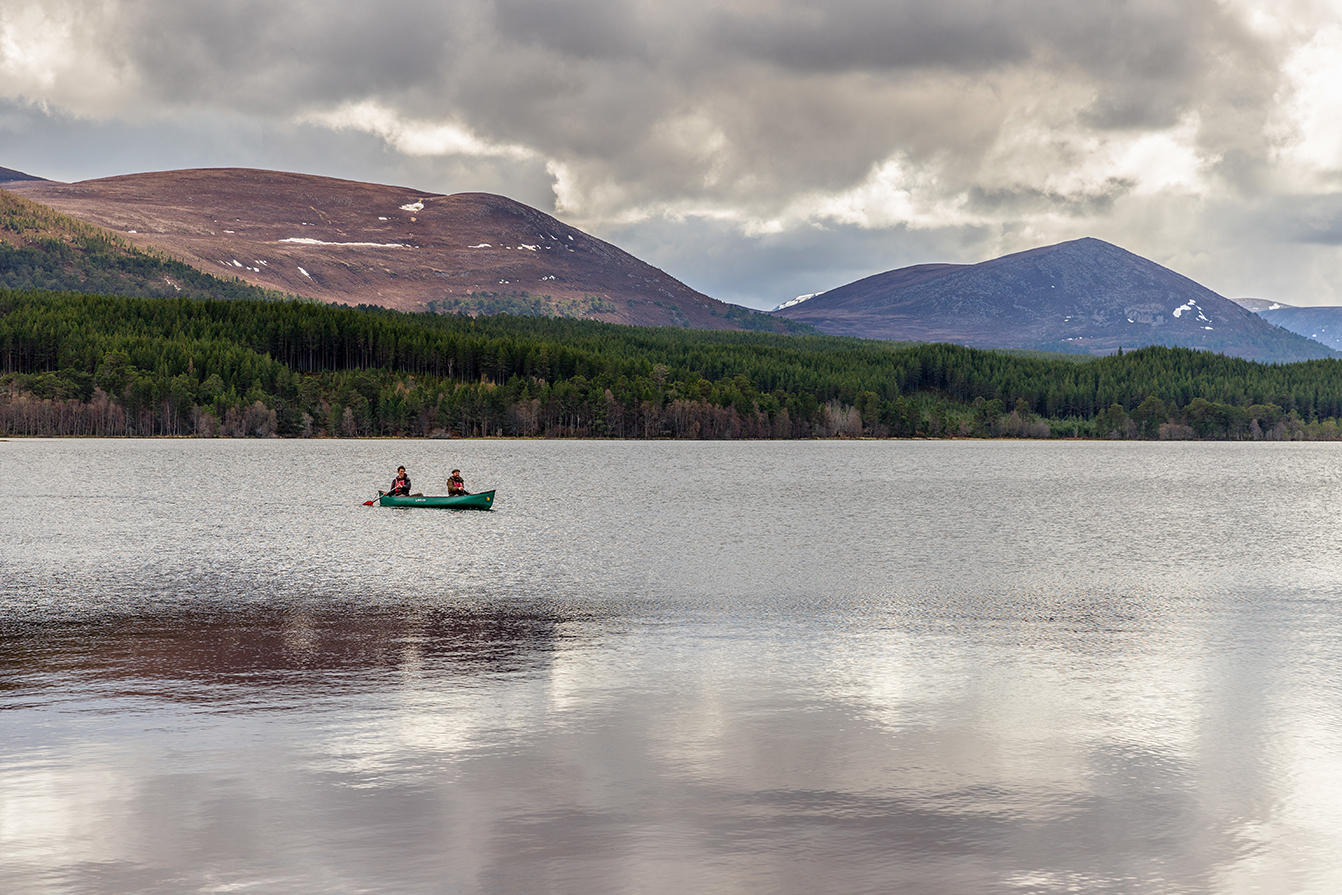 People Canoeing at Loch Morlich