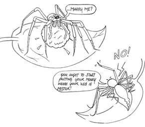 In some species, offering nuptial gifts is a way to impress a mate. Or an attempt at least!