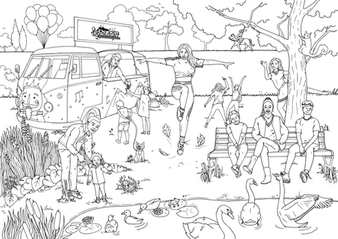 Coloring Page for The Dance Factory