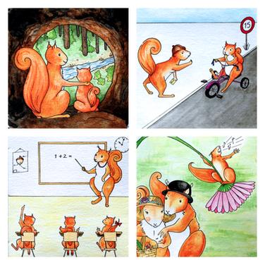 Poem Illustrations for 'Luca'