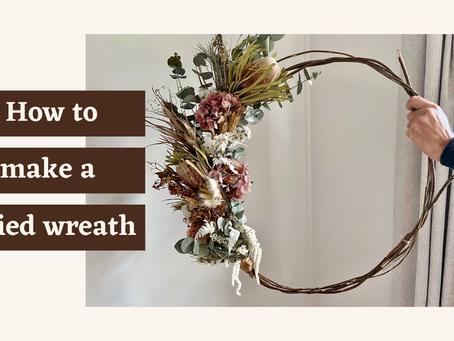 How to make a dried wreath
